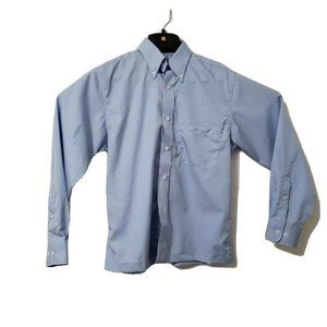 Pendleton Mens Oxford Button Down Shirt Blue 100%